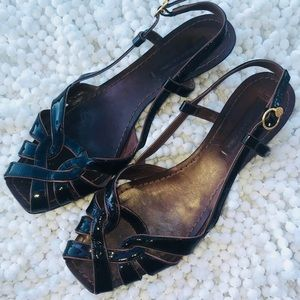 Bcbgmaxazria Brown Leather sandals size 38